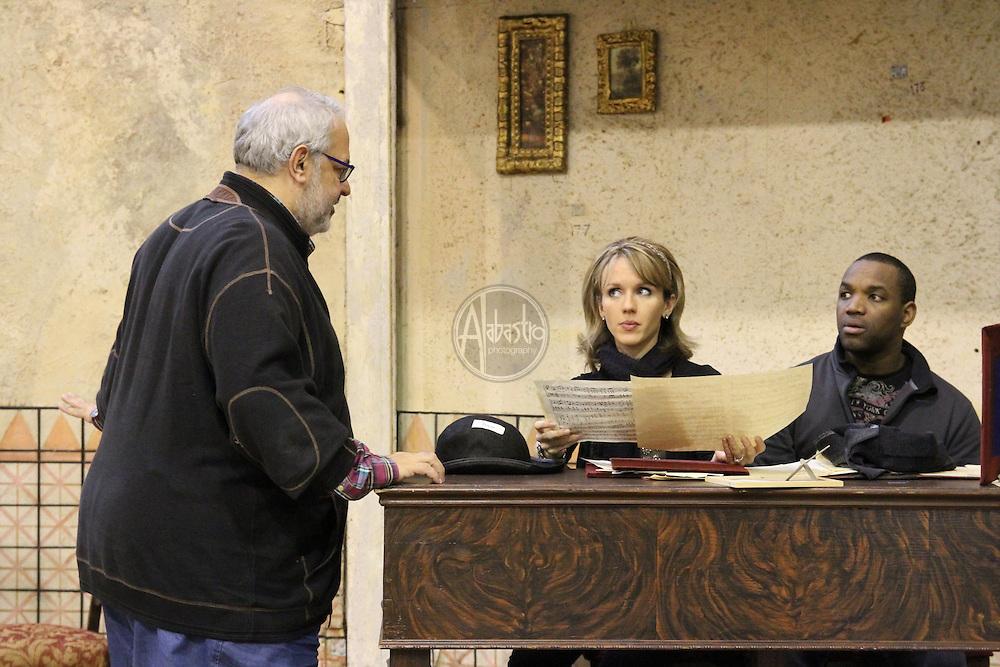 Rehearsal for Seattle Opera's Barber of Seville.