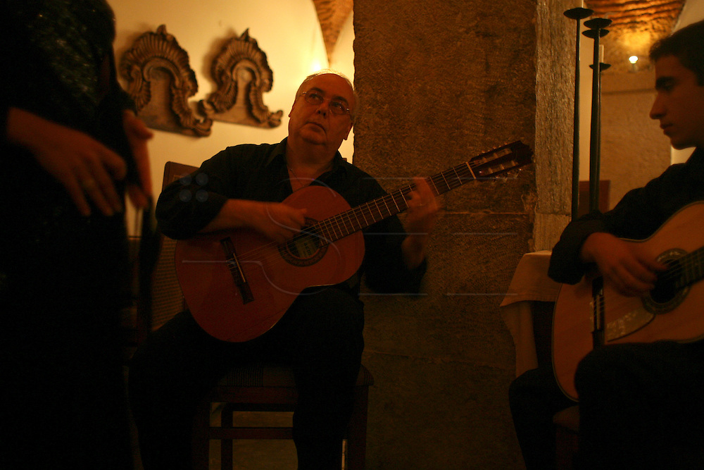 """Guitar player Jose Carvalhinho  performs every night at the restaurant """"Marques da Se"""", one of the main Fado venues in Lisbon."""