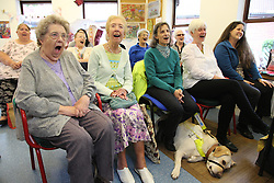 Visually impaired people singing in choir at Mysight, Nottingham