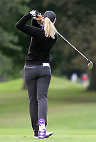 14 August 2014: Suzann Pettersen eyes a putt during the Wegmans LPGA Golf Damen Championship at Monroe Golf Club in Pittsford,<br /> Norway only