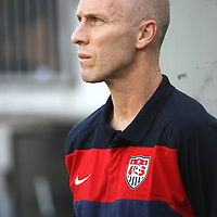 United States mens team head coach Bob Bradley during a CONCACAF Gold Cup soccer match between the United States and Panama on Saturday, June 11, 2011, at Raymond James Stadium in Tampa, Fla. (AP Photo/Alex Menendez)