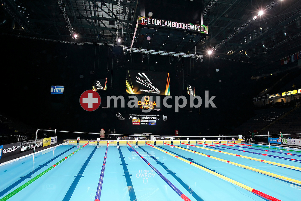 A general view of the Duncan Goodhew pool at the FINA Swimming World Championships (25m) in Manchester, Great Britain, Saturday, April 12, 2008. (Photo by Patrick B. Kraemer / MAGICPBK)