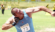 BELLVILLE, SOUTH AFRICA, Saturday 3 March 2012, Burger Lambrechts wins the shot put with a heave of  19.61m during the Yellow Pages Interprovincial held at Bellville Stadium stadium, outside Cape Town..Photo by ImageSA/ASA
