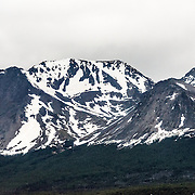 Some of the many mountains surrounding the nothern edges of Ushuaia in southern Argentina.