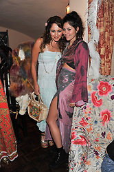 Left to right, FRANCES RUFFELLE and her daughter singer ELIZA DOOLITTLE at a party to celebrate the publication of Seductive Interiors by Sara Hersham Loftus at Julie's, 135 Portland Road, London W11 on 15th November 2012.