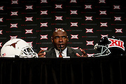 DALLAS, TX - JULY 22:  Texas head coach Charlie Strong speaks during the Big 12 Media Day on July 22, 2014 at the Omni Hotel in Dallas, Texas.  (Photo by Cooper Neill/Getty Images) *** Local Caption *** Charlie Strong