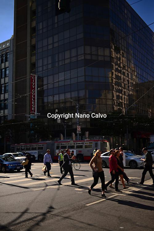 Crosswalk in SoMa, San Francisco.
