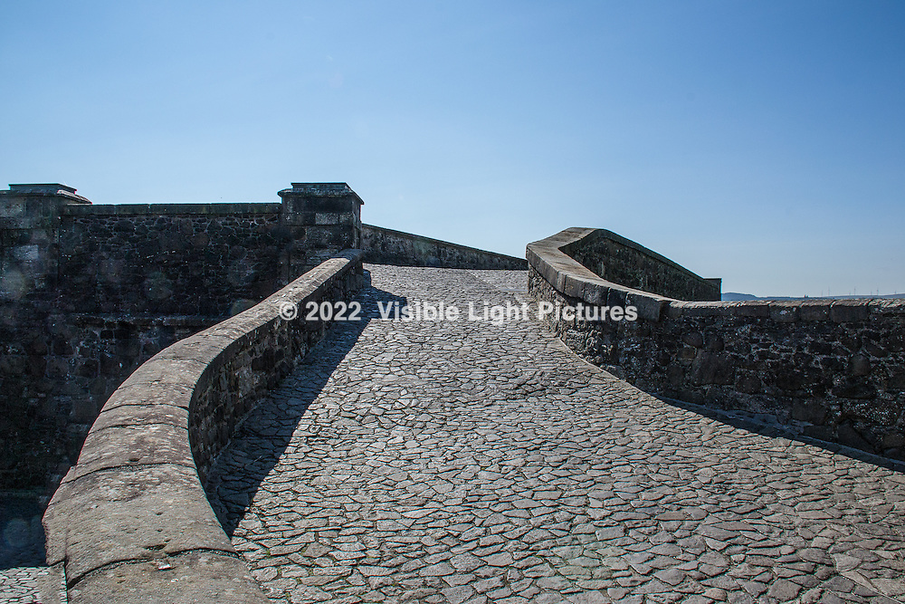 One of the upper level walkways bringing visitors into the castle.