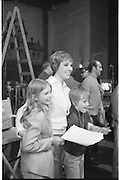Julie Andrews filming 'Darling Lilli' at the Gaiety Theatre, Dublin. The film is set during World War 1 and also stars Rock Hudson. <br /> 25.06.1968