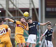 Dundee&rsquo;s Darren O&rsquo;Dea and Motherwell&rsquo;s Louis Moult - Motherwell v Dundee in the Ladbrokes Scottish Premiership at Fir Park, Motherwell.Photo: David Young<br /> <br />  - &copy; David Young - www.davidyoungphoto.co.uk - email: davidyoungphoto@gmail.com