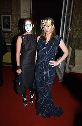 Left to right, sisters POPPY DE VILLENEUVE and DAISY DE VILLENEUVE at the 2006 Moet & Chandon Fashion Tribute in honour of photographer Nick Knight, held at Strawberry Hill House, Twickenham, Middlesex on 24th October 2006.<br />
