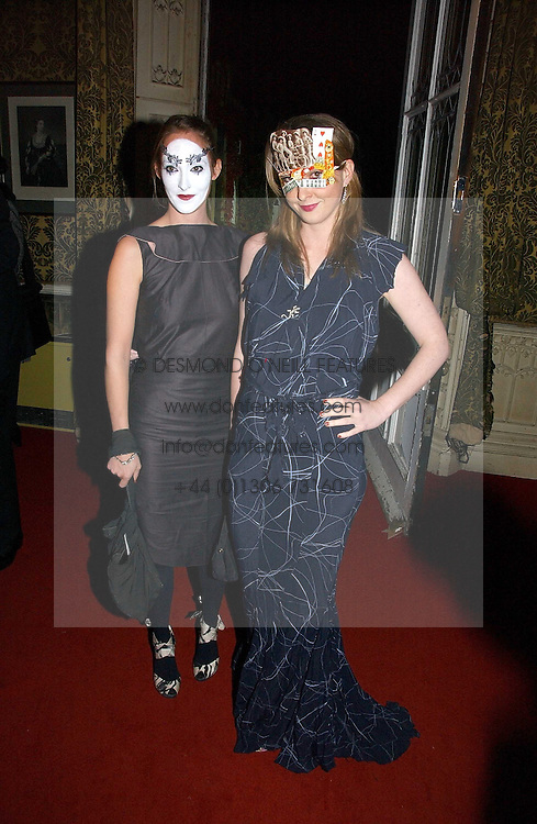 Left to right, sisters POPPY DE VILLENEUVE and DAISY DE VILLENEUVE at the 2006 Moet & Chandon Fashion Tribute in honour of photographer Nick Knight, held at Strawberry Hill House, Twickenham, Middlesex on 24th October 2006.<br /><br />NON EXCLUSIVE - WORLD RIGHTS