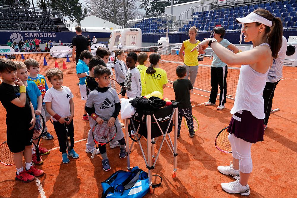Hingis entrainement avec Kids serait ce Samedi 13 heures dans le club de Lido Lugano.<br /> Lugano avril 2018<br /> &copy; Nicolas Righetti /Lundi13.ch