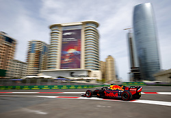 April 27, 2018 - Baku, Azerbaijan - #3 DANIEL RICCIARDO (AUS, Red Bull Racing) in action during a practice run at the Formula 1 World Championship, Rd 4, Azerbaijan Grand Prix, Baku Street Circuit, Azerbaijan. (Credit Image: © Hoch Zwei via ZUMA Wire)