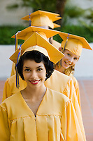 Graduates Standing in a Line