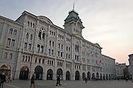 Trieste, Palazzo del Municipio in Piazza unità d'Italia.