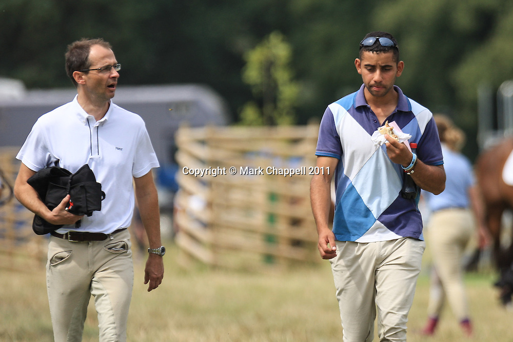Team Eleda competing at Wilton Horse Trials, Salisbury, Wilts. 30-31 July 2011.