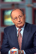 Former Senator Al D'Amato discusses his new job as columnist for George Magazine during NBC''s Meet the Press April 11, 1999 in Washington, DC.
