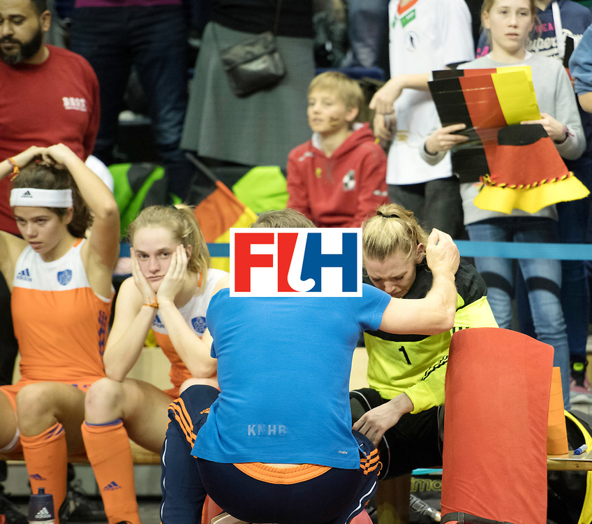 BERLIN - Indoor Hockey World Cup<br /> Final: Netherlands - Germany<br /> foto: Alexandra Heerbaart (GK)  <br /> WORLDSPORTPICS COPYRIGHT FRANK UIJLENBROEK