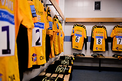 The Wasps changing room prior to kick off - Mandatory by-line: Ryan Hiscott/JMP - 30/11/2019 - RUGBY - Sandy Park - Exeter, England - Exeter Chiefs v Wasps - Gallagher Premiership Rugby