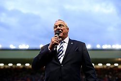 Bristol Bears Chairman Chris Booy addresses the crowd at half time and thanks them for their superb support this season - Rogan/JMP - 03/05/2019 - RUGBY UNION - Ashton Gate Stadium - Bristol, England - Bristol Bears v Sale Sharks - Gallagher Premiership Rugby.