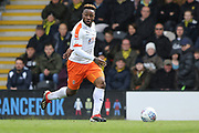 Luton Town midfielder Kazenga LuaLua on the ball during the EFL Sky Bet League 1 match between Burton Albion and Luton Town at the Pirelli Stadium, Burton upon Trent, England on 27 April 2019.