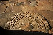 A sandakada pahana at one of the entrances to the Vatadage, Polonnaruwa.