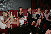 Theodora Warre, Eugenie Warre, Alex Findlay,Ticky Hedley-Dent, Olivia Falcon and Laura Bond.  . Book launch hosted by Geordie Greig for Fulfilment & Betrayal by  Naim Attallah: Bluebird, 350 King's Road, London. 1 May 2007.  -DO NOT ARCHIVE-© Copyright Photograph by Dafydd Jones. 248 Clapham Rd. London SW9 0PZ. Tel 0207 820 0771. www.dafjones.com.