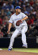 ATLANTA, GA - JUNE 08:  Pitcher Francisco Cordero #48 of the Toronto Blue Jays throws a pitch during the game against the Atlanta Braves at Turner Field on June 8, 2012 in Atlanta, Georgia.  (Photo by Mike Zarrilli/Getty Images)