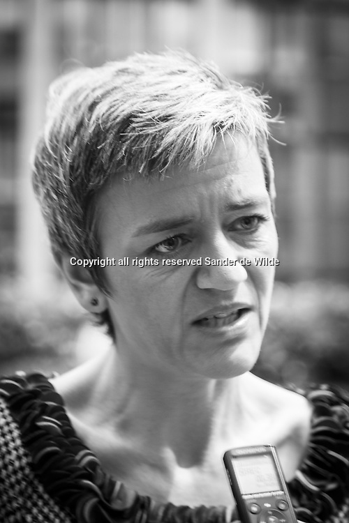 Danish Finance minister Margrethe Vestager. The European Union's Economy and Finance Ministers convene in Brussels on Tuesday, November 13, 2012, to discuss ongoing dossiers aimed at strengthening the economic governance and financial framework of the EU.