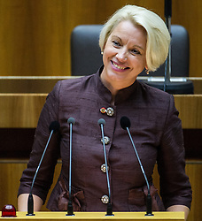 29.10.2013, Parlament, Wien, AUT, Parlament, 1. Nationalratssitzung, Konstituierende Sitzung des Nationalrates mit Angelobung der Abgeordneten. im Bild Nationalratsabgeordnete NEOS Angelika Mlinar // Member of Parliament NEOS Angelika Mlinar during the 1st meeting of the national assembly of austria, austrian parliament, Vienna, Austria on 2013/10/29, EXPA Pictures © 2013, PhotoCredit: EXPA/ Michael Gruber