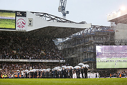 Tottenham Hotspur put on a farewell show with former and current players after the final game at White Hart Lane before it's closure for demolition and redevelopment - Rogan Thomson/JMP - 14/05/2017 - FOOTBALL - White Hart Lane - London, England - Tottenham Hotspur v Manchester United - Premier League.