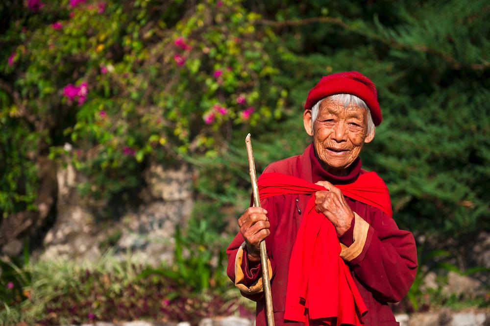 A woman in eastern Bhutan.