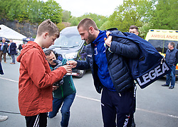 RHOSYMEDRE, WALES - Sunday, May 5, 2019: The New Saints FC's Greg Draper arrives before the FAW JD Welsh Cup Final at The Rock. (Pic by David Rawcliffe/Propaganda)