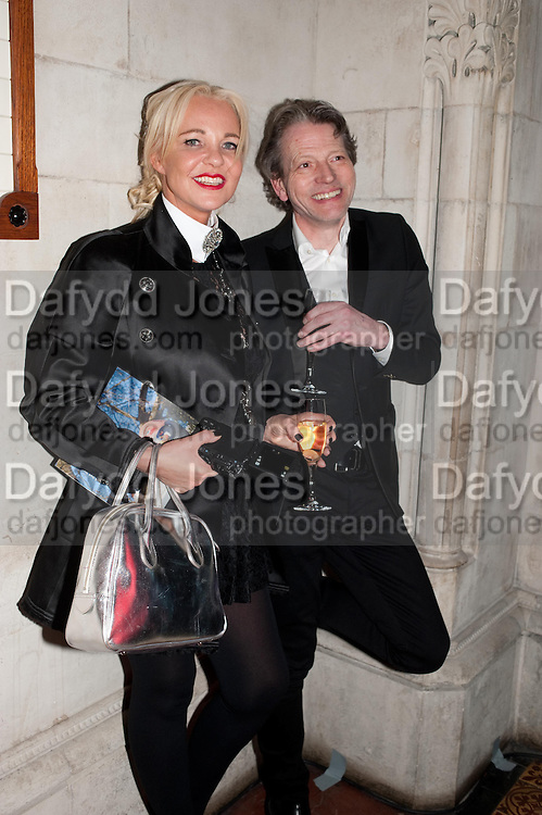 AMANDA ELIASCH; TIM WILLIS,  THE FABERGÉ BIG EGG HUNT AUCTION in aid of Action for Children. Royal Courts of Justice. London. 20 March 2012.