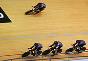 New Zealand's Pursuit team in action in the Mens Pursiut Race at Melbourne Park at the XVIII Commonwealth Games, Melbourne, Australia, Saturday, March 18 2006. Photo: Sport the Library / www.photosport.nz