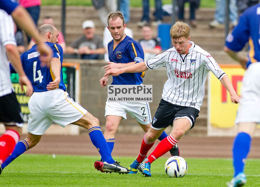Berwick Rangers v Dunfermline Athletic Pre Season friendly Shielfield Park 19 July 2014<br /> Ross Drummond beats 4 men to set up the opening goal<br /> <br /> CRAIG BROWN | sportPix.org.uk