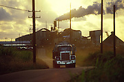 Sugar cane haul truck, Kauai, Hawaii<br />