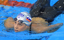 Anja Carman, Women`s 200m Backstroke, at 4th day of Heats of LEN European Short Course Swimming Championships Rijeka 2008, on December 14, 2008,  in Kantrida pool, Rijeka, Croatia. (Photo by Vid Ponikvar / Sportida)