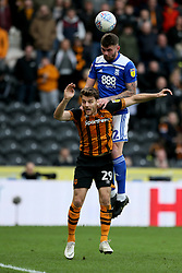 Birmingham City's Harlee Dean (right) and Hull City's Chris Martin battle for the ball