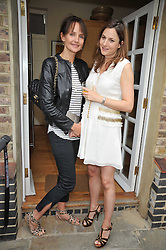 Left to right, SAFFRON ALDRIDGE and BIANCA PITT at an Indian Tea Party for fashion label Saloni, held at The Coach House, Debenham House, 8 Addison Road, London W14 on 14th July 2009.