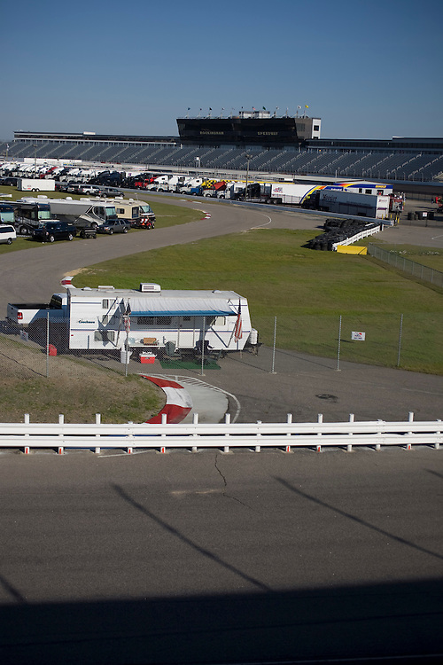 A camper on the infield and close to turn three at Rockingham Speedway.