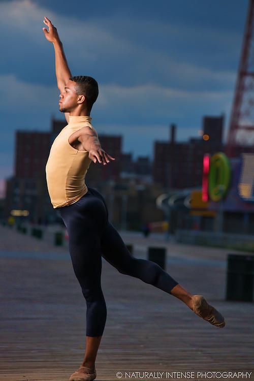Coney Island Boardwalk Dancer Julian Watson. Dance As Art The New York Photography Project.