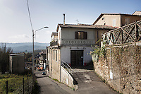 """SOVERIA MANNELLI, ITALY - 17 NOVEMBER 2016: Lanificio Leo, the first and last machine-operated woolen mill of Calabria, a Southern Italian region, is seen here in Soveria Mannelli, Italy, on November 17th 2016.<br /> <br /> Founded in 1873, it employed 50 people until the 1970s, when national policies to develop Italy's South cut out small businesses and encouraged larger productions or employment in the public administration.<br /> <br /> The woolen mill was on stand-by for about two decades, until Emilio Salvatore Leo, 41, started inviting international designers and artists to summer residencies in Soveria Mannelli. With their inspiration, he tried to envision a future for his mill and his town that was not of a museum of the past,<br /> Over the years, Mr. Leo transformed his family's industrial converter of Calabrian wool into a brand that makes design products for home and wear. His century old machines now weave wool from Australia or New Zealand, cashmere from Nepal and cotton from Egypt or South America. He calls it a """"start-up on scrap metals,"""" referring to the dozens of different looms that his family acquired over the years.<br /> <br /> Soveria Mannelli is a mountain-top village in the southern region of Calabria that counts 3,070 inhabitants. The town was a strategic outpost until the 1970s, when the main artery road from Naples area to Italy's south-western tip, Reggio Calabria went through the town. But once the government started building a motorway miles away, it was cut out from the fastest communications and from the most ambitious plans to develop Italy's South. Instead of despairing, residents benefited of the geographical disadvantage to keep away the mafia infiltrations, and started creating solid businesses thanks to its administrative stability, its forward-thinking mayors and a vibrant entrepreneurship numbering a national, medium-sized publishing house, a leading school furniture manufacturer and an ancient woolen mill."""