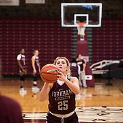 December 16, 2016 - New York, NY : Hannah Missry, a senior guard for the Fordham University Women's Basketball Team, practices with the team in Rose Hill Gymnasium on Friday. CREDIT: Karsten Moran for The New York Times