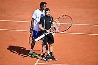 Cyril HANOUNA / Gael MONFILS - 23.05.2015 - Tennis - Journee des enfants - Roland Garros 2015<br /> Photo : David Winter / Icon Sport