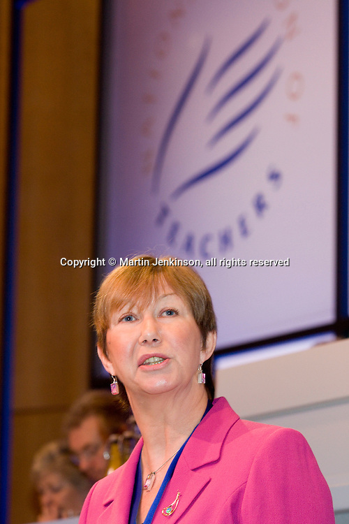 Judy Moorhouse, President, speaking at the union's Annual Conference...© Martin Jenkinson, tel 0114 258 6808 mobile 07831 189363 email martin@pressphotos.co.uk. Copyright Designs & Patents Act 1988, moral rights asserted credit required. No part of this photo to be stored, reproduced, manipulated or transmitted to third parties by any means without prior written permission