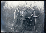 outdoors countryside group portrait France ca 1920s