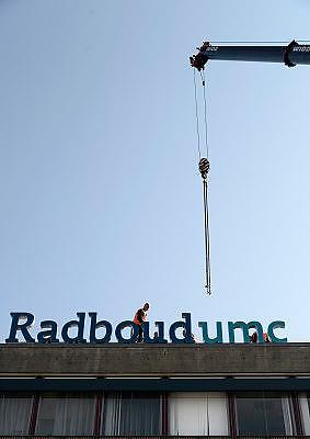 Nederland, Nijmegen, 1-10-2013Het UMC St. Radboud, het academisch ziekenhuis van de Radboud universiteit, heeft een nieuwe naam en nieuw logo. Het heet voortaan Radboudumc.Foto: Flip Franssen
