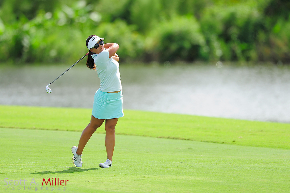 Jenny Suh in action during the final round of the Daytona Beach Invitational  at LPGA International on Sep 29, 2012 in Daytona Beach, Florida...©2012 Scott A. Miller
